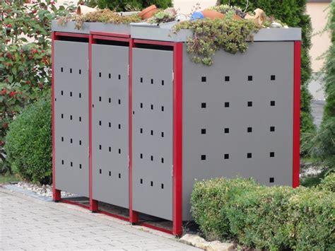 Mülltonnenboxen Aus Metall Langlebig Und Schön Für