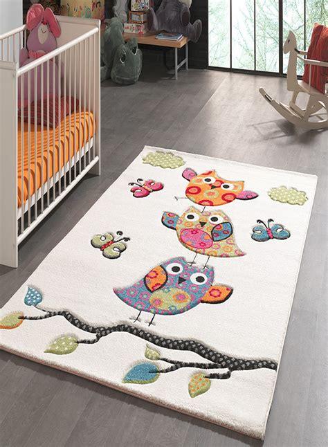 tapis pour la chambre kids chouettes creme de la