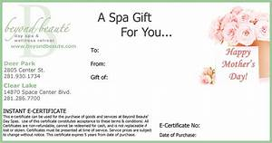 beyond beaute gift card With gift certificate terms and conditions template
