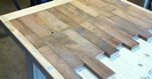 DIY wood plank kitchen table picture step by step See