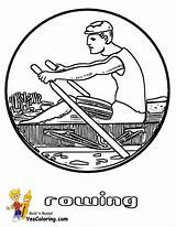 Coloring Boat Printables Rowing Crew Rower Yescoloring Pages Boats Fishing Sheet Water Coolest sketch template