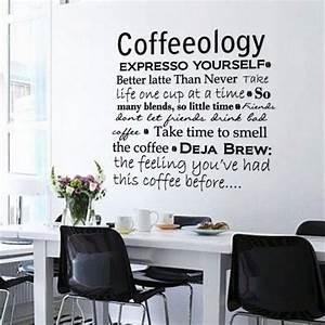 Wall decals matte dark grey vinyl coffee kitchen office