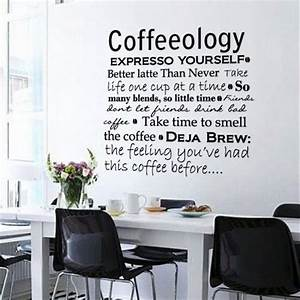 wall decals matte dark grey vinyl coffee kitchen office With kitchen colors with white cabinets with office vinyl wall art