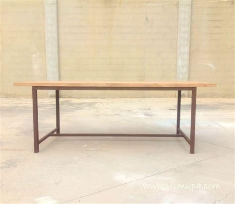 mesa de comedor de madera natural  metal vilmupacom
