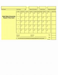 timecard forms fillable time card free download