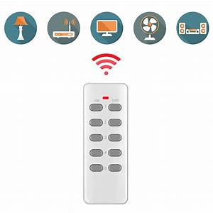 5 Pack Wireless Remote Control Power Outlet Plug Light