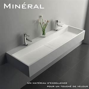 Plan Suspendu Pour Vasque : plan vasque salle de bain suspendu mineral 120 5x40 cm ~ Teatrodelosmanantiales.com Idées de Décoration