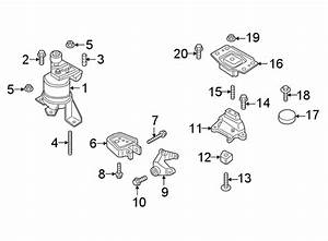 Ford Edge Mount  Transmission  Bracket   Lower   2 0 Liter  At Trans  Automatic