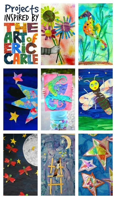 Inspired By The Wonderful World Of Eric Carle Books   Books With Activities  Kindergarten Art