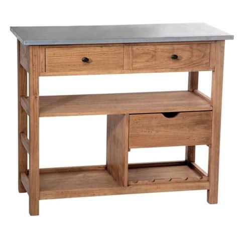 billot de cuisine pas cher comptoir de famille billot en bois plateau zinc