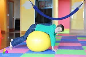 Child Therapy Ball Prone