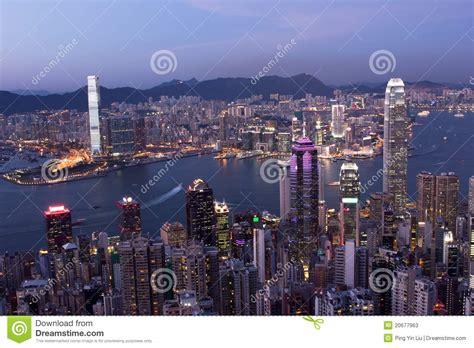 hong kong city  night stock image image  cities