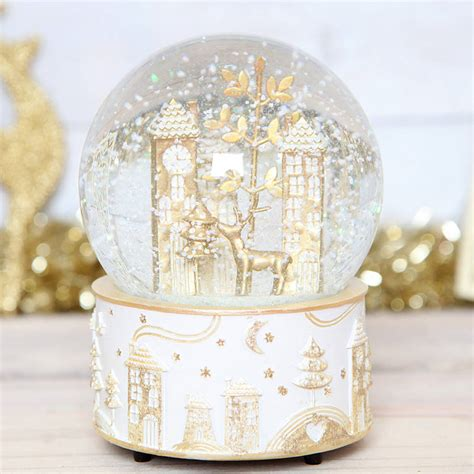 christmas wonderland musical snow globe by red berry apple