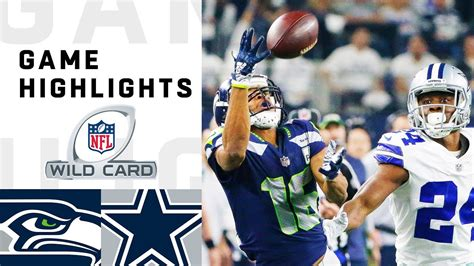 seahawks  cowboys wild card  highlights nfl
