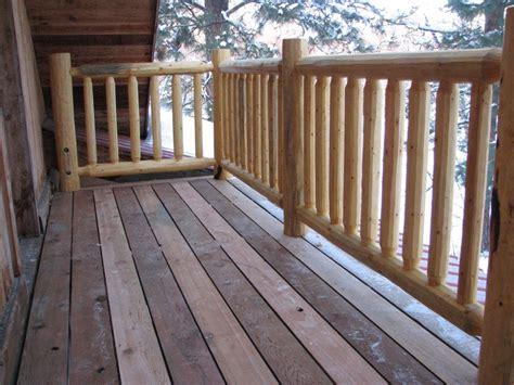 deck railing ideas wood deck railing photos cascade log creations did a fantastic job building a stair railing