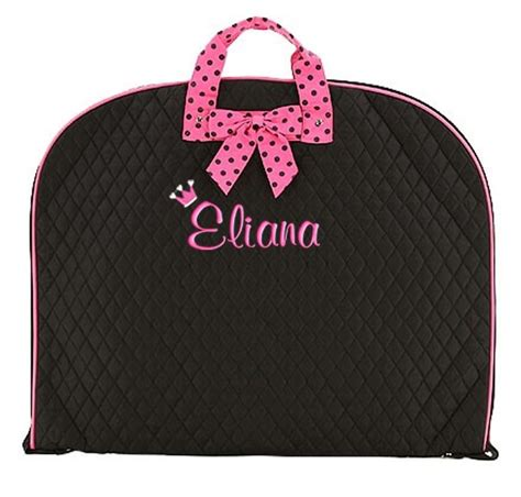 personalized garment bag dance pageant gym black hot