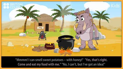 anansi  thin legs kids stories learnenglish