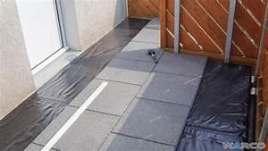 Warco Terrassenplatten Verlegen : einbau auf bitumenbahn oder dachfolie warco bodenbel ge ~ A.2002-acura-tl-radio.info Haus und Dekorationen