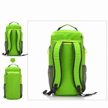 Bag Backpack Cylindrical Waterproof Collapsible Shoulder Bazaargadgets