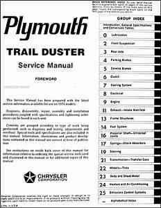 1974 Plymouth Trail Duster Repair Shop Manual Original