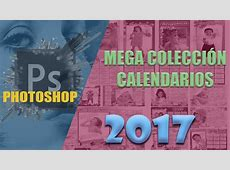 Calendarios 2017 PSD Photoshop con festivos para Colombia