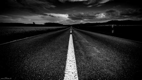 Hd Black Photo by Monochrome Road The Distance Black And White Hd Wallpaper
