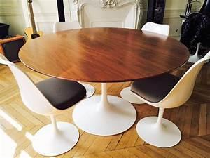Table Basse Tulipe : table tulipe saarinen de knoll en noyer l 39 atelier 50 ~ Teatrodelosmanantiales.com Idées de Décoration