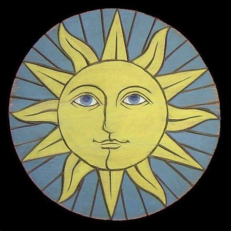 Items similar to Folk Art Signs, Sun Face on Etsy   Sign ...