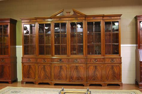 White Breakfront China Cabinet by Large Mahogany China Cabinet Large Breakfront Large
