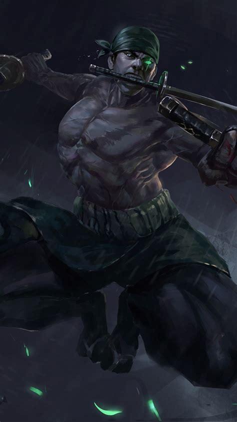 piece roronoa zoro swords green