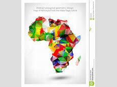 Abstract Polygonal Geometric Design Map Of Africa Stock