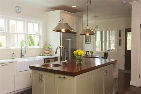 kitchen  hammered apron sink transitional kitchen