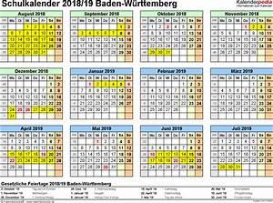 Jahreskalender 2018 2019 : schulkalender 2018 2019 baden w rttemberg f r pdf ~ Jslefanu.com Haus und Dekorationen