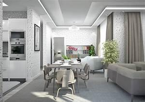 Revgercom amenagement salon sejour cuisine 40m2 idee for Salon salle a manger 40m2