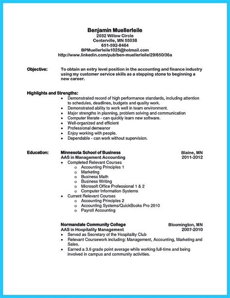 relevant coursework engineering resume