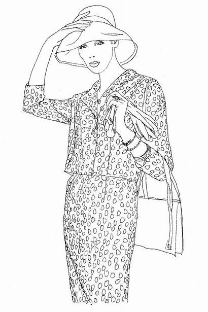 Vogue Colouring Coloring Pages Adult Books Sheets