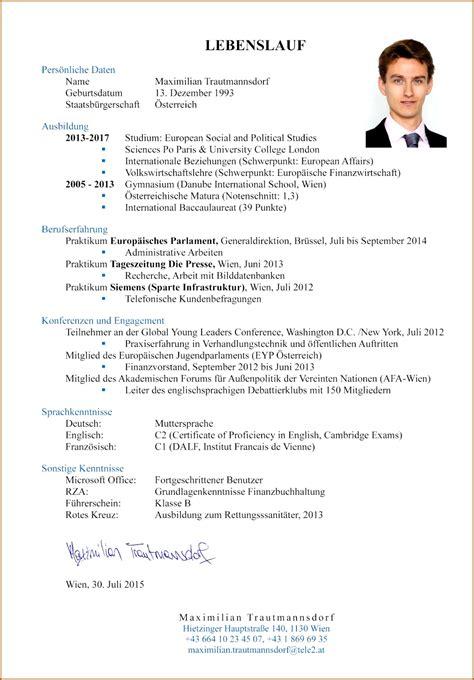 Lebenslauf Muster Für Schüler by 11 Muster Lebenslauf Schuler Vorlagen123 Vorlagen123