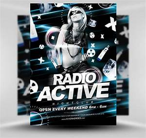 Radio active flyer template free psd photoshop flyer poster template flyerheroes free for Flyerheroes free