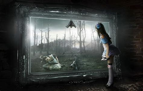 creepy girl painting fantasy wallpaper gallery