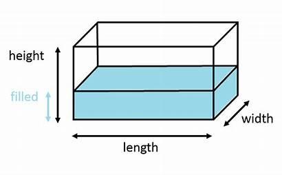 Volume Tank Rectangular Prism Calculator Box Shapes