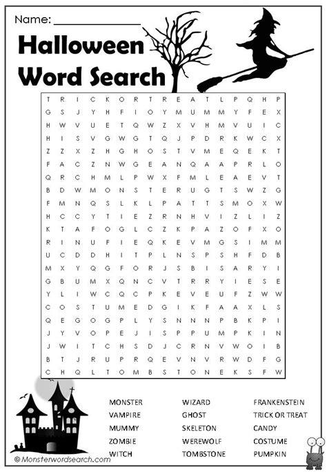 cool halloween word search word search halloween word