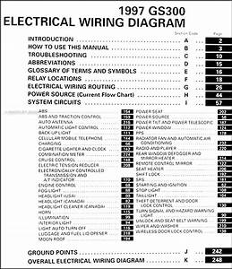 1997 Lexus Gs 300 Wiring Diagram Manual Original