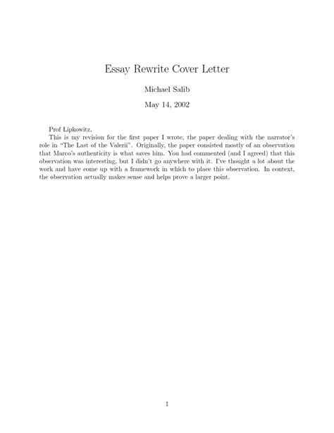 To Write A Cover Letter For A Paper by Essay Letters Exles Essay Rewrite Cover Letter