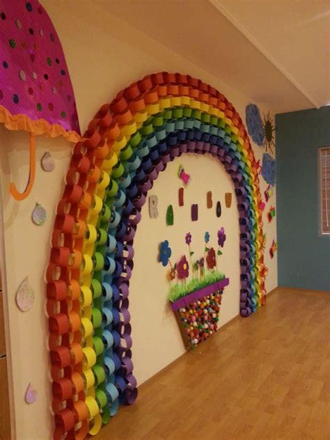 Preschool Kindergarten Rainbow Sunny Sun Paper Rain Flower
