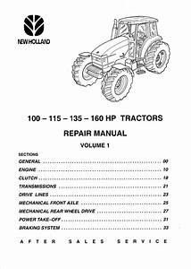 New Holland 100 Hp  115 Hp  135 Hp  160 Hp Tractor Service