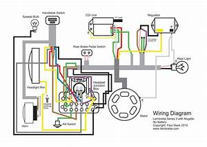 Lambretta Restoration  Wiring Diagram For Mugello 12 Volt