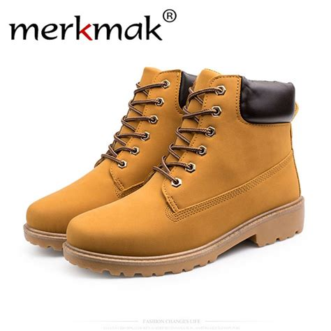 Merkmak Brand Classic High Top Men Ankle Boots Casual