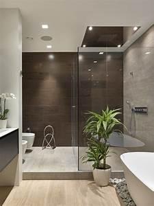 1001 modeles pharamineux de la salle de bain moderne With carrelage adhesif salle de bain avec led pour plantes vertes