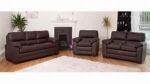 Sofa 3 2 1 : leather sofa 1 2 3 seater in black brown cream homegenies ~ Eleganceandgraceweddings.com Haus und Dekorationen