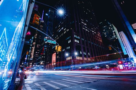 New York City Street Long Exposure HD World 4k